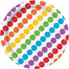 Rainbow Birthday Assiettes 7po, 8un
