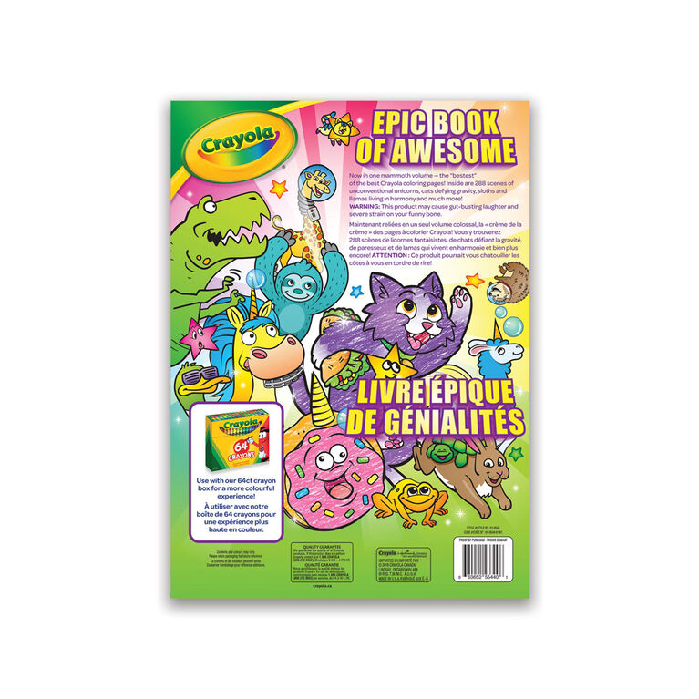 Crayola Colouring Book, 288 Pages - Styles Will Vary