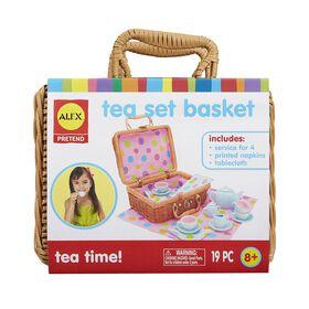 ALEX Pretend Tea Set Basket