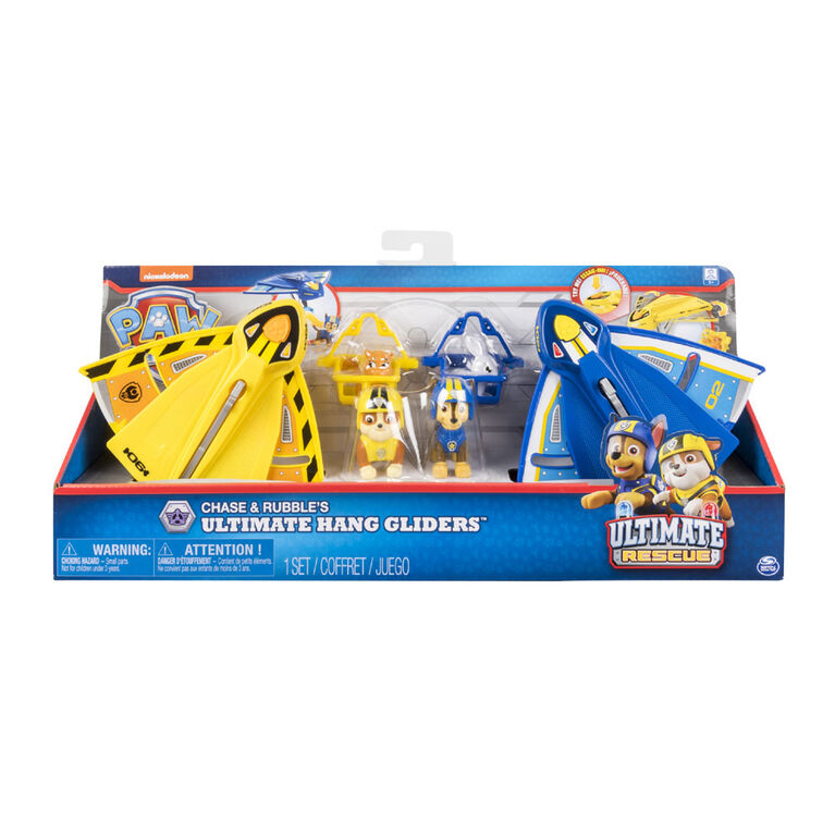 PAW Patrol Ultimate Rescue - Chase & Rubble's Ultimate Hang Gliders, For Ages 3 and Up - Exclusive