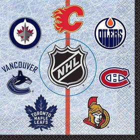 NHL Fans Luncheon Napkins, 16 pieces
