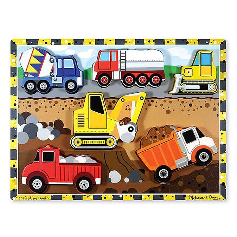 Melissa & Doug - Construction Chunky Puzzle