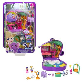 Polly Pocket - Coffret de jeu compact Aventure d'éléphant