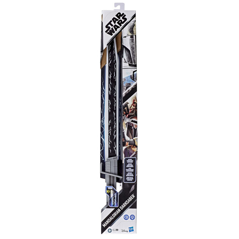 Star Wars Mandalorian - Darksaber Lightsaber Toy with Electronic Lights and Sounds, Star Wars: The Clone Wars