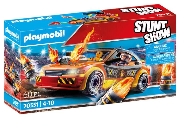 Playmobil - Stuntshow Voiture crash test avec mannequin