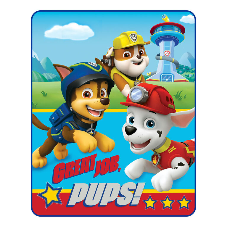 "Paw Patrol ""Great Job Pups"" Silk Touch Throw"