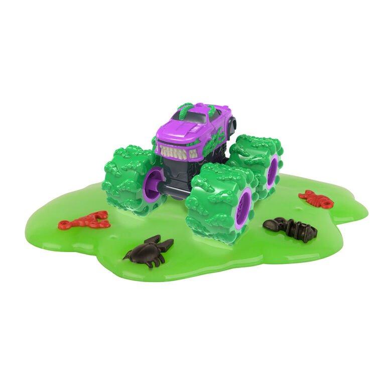 Real Monster Treads Toy Vehicles, Blind Bag with Sludge for a Unique Unboxing Experience