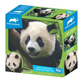 Planète Animale - Panda Géant - 100 pc Casse-tête Super 3D - Notre exclusivité