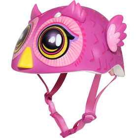 Raskullz - Big Eyes Owl Toddler 5+ Bike Helmet - Pink