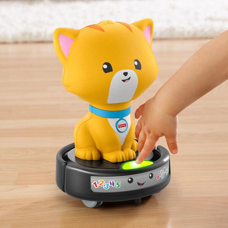 Fisher-Price - Rires et Éveil - Chat après un chat sur un aspirateur -Édition bilingue
