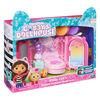 DreamWorks, Gabby's Dollhouse, Sweet Dreams Bedroom avec figurine Pillow Cat et 3 accessoires, 3 meubles et 2 boîtes surprises