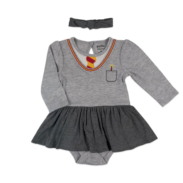 Harry Potter Tutu dress with headband - Grey, Newborn.