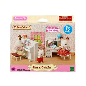 Calico Critters - Piano & Desk Set