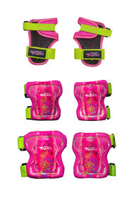 Flybar AERO Elbow Knee and Wrist Guard Junior Safety Set for Ages 5 to 10 (Pink)
