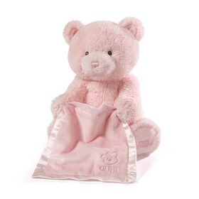 Baby GUND Peek-A-Boo My 1st Teddy Pink Bear Animated Plush Stuffed Animal, 11.5 inch