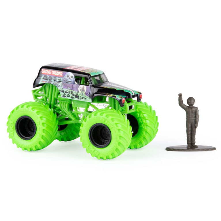 Monster Jam, Official Grave Digger Monster Truck, Nitro Neon Series, 1:64 Scale