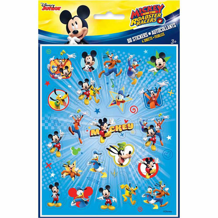 Mickey Sticker Sheets, 4 pieces