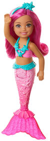 Barbie Dreamtopia Chelsea Mermaid Doll, 6.5-inch with Pink Hair and Tail