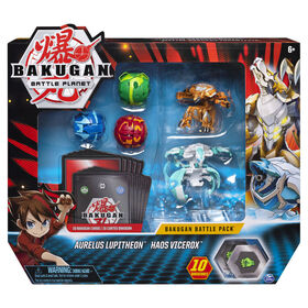 Bakugan, Battle Pack 5-Pack, Aurelus Lupitheon and Haos Vicerox