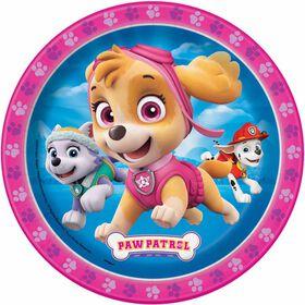 "Paw Patrol Pink  7"" Plates 8 pieces"