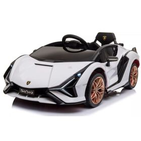 KidsVip 12V Kids & Toddlers 4WD Lamborghini Sian MP4 Ride on Car w/Remote Control - White