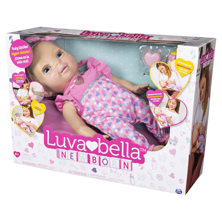 Luvabella Newborn - Interactive Baby Doll with Real Expressions and Movement
