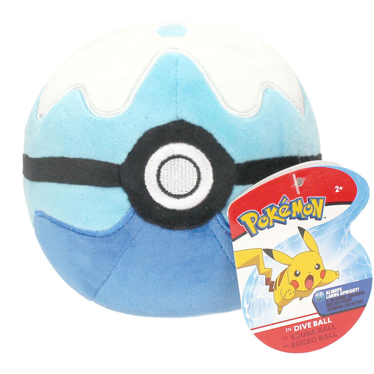 """Pokémon 4"""" Pokeball Plush - Dive Ball"""