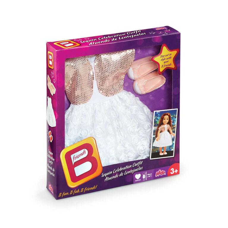B Friends  - Tenue de fête de luxe à paillettes pour poupée de 46 cm - Notre exclusivité