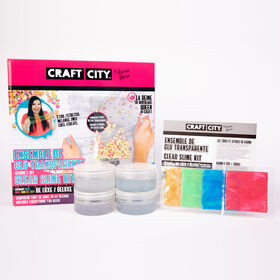 Craft City de Karina Garcia - Ensemble de glu transparente DIY - Notre exclusivité