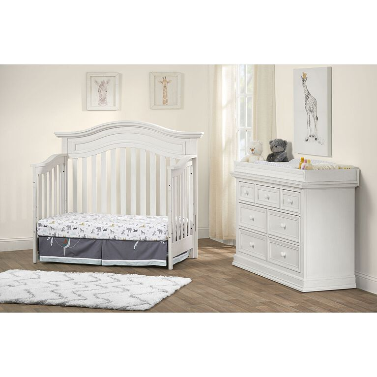 Oxford Baby Danbury 4-in-1 Convertible Crib - Vintage White - R Exclusive