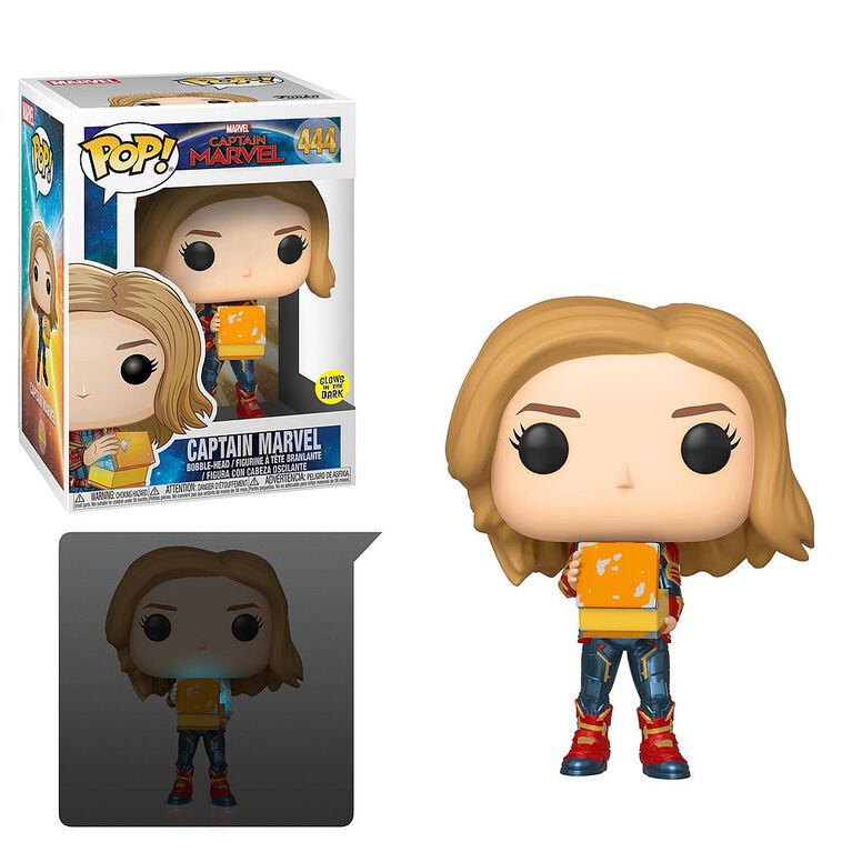 Funko POP! Marvel: Captain Marvel - Captain Marvel (Glow in the Dark) Vinyl Figure