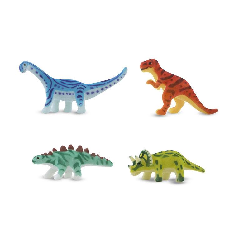 Tapis de dinosaure de terrain de jeu préhistorique - les motifs peuvent varier