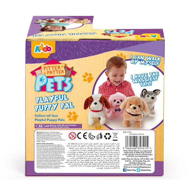 Pitter Patter Pets Playful Puppy Pal White and Brown Beagle