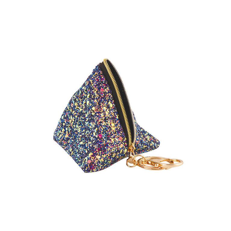 Fashion Angels - Chunky Glitter Triangle Pouch Bag Charm - Midnight