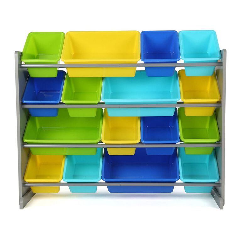 Tot Tutors Elements Super-Sized Toy Organizer with 16 Bins
