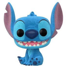 Funko POP! Disney: Lilo and Stitch - Seated Stitch (Flocked) - R Exclusive