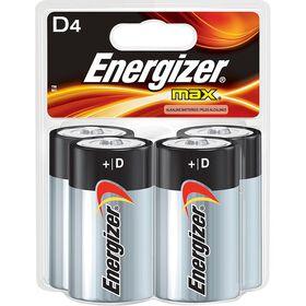 Energizer Max -  Paquet 4 piles D