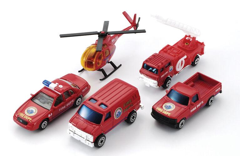 Coffret Cadeau Véhicule 5 Pièces - Pompier