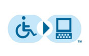footer accessibility logo