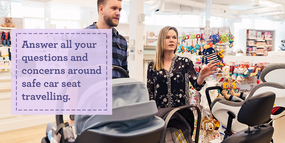 Answer all your questions and concerns around safe car seat travelling.