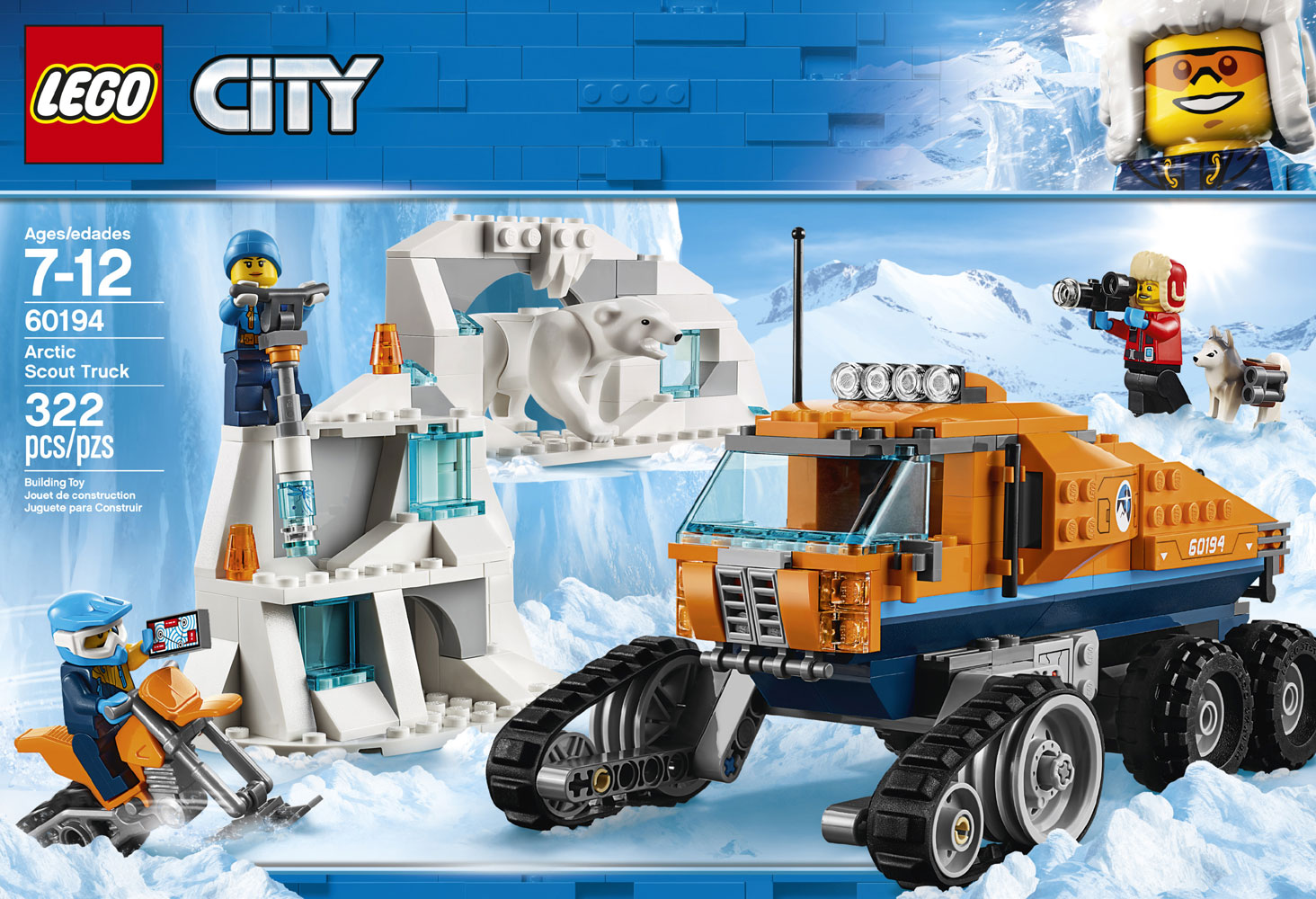 LEGO City Arctic Expedition Arctic Scout Truck 60194 ...