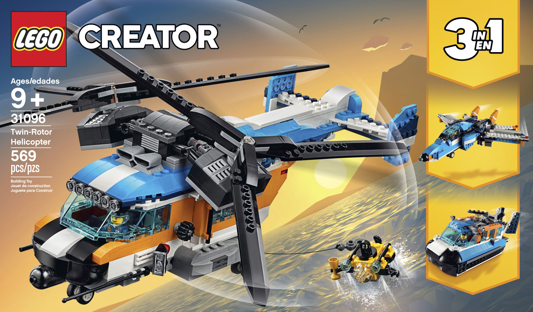 Lego Creator Twin Rotor Helicopter 31096 Toys R Us Canada