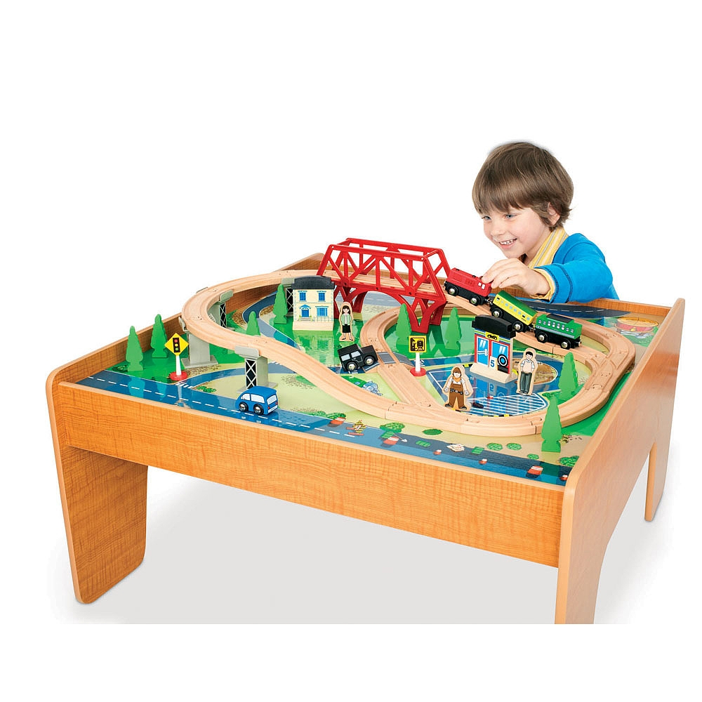 Marvelous Buy Imaginarium 55 Piece Rail And Road Train Set With Table For Cad 89 98 Toys R Us Canada Interior Design Ideas Apansoteloinfo