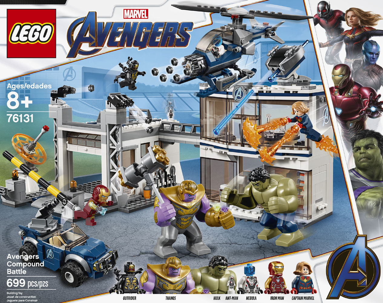 Lego Super Heroes Marvel Avengers Compound Battle 76131 Toys R Us Canada