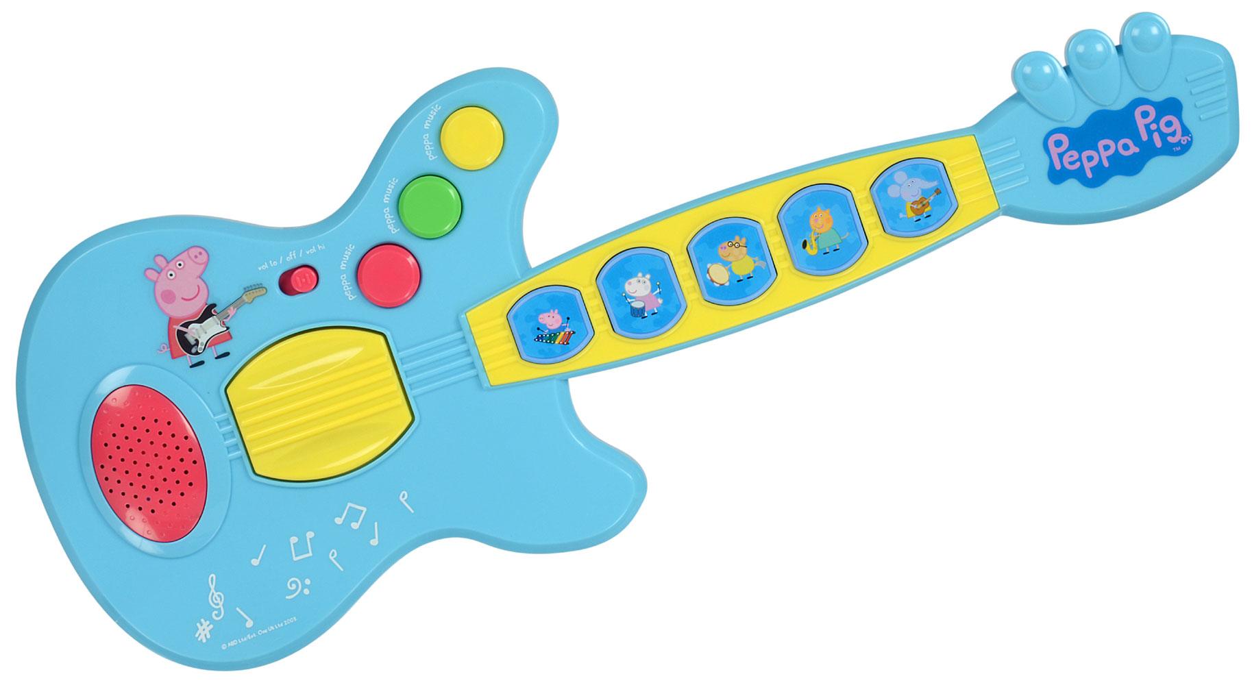 Kids Peppa Pig Guitar Children/'s Musical Toy Green Small